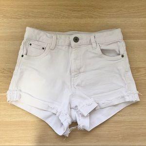 Zara High-waisted Denim Shorts